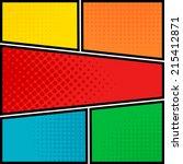 Постер, плакат: Comics pop art style blank