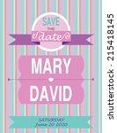 wedding invitation card... | Shutterstock . vector #215418145