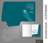 blue folder template design for ... | Shutterstock .eps vector #215428681