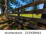 Old Wooden Fence In Texas In...