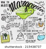 how to make a margarita... | Shutterstock .eps vector #215438737
