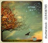 fall tree poster   instagram...   Shutterstock .eps vector #215438785
