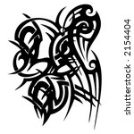 tribal vector tattoo   Shutterstock .eps vector #2154404