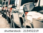 Cars Traffic Closeup. Urban...