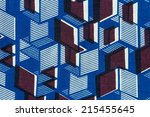 manufactured african fabric ... | Shutterstock . vector #215455645