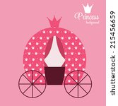 princess crown  background... | Shutterstock .eps vector #215456659