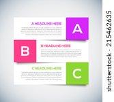 3d modern infographics design... | Shutterstock .eps vector #215462635