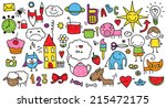collection of cute children's... | Shutterstock .eps vector #215472175