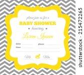 baby shower invitation. white ... | Shutterstock .eps vector #215472265