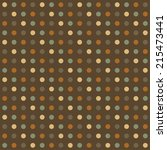 coffee brown pattern wrapping... | Shutterstock .eps vector #215473441