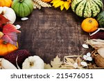 Autumn Frame From Pumpkins And...