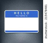 blue cobalt blank name tag... | Shutterstock .eps vector #215478481