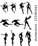silhouette | Shutterstock .eps vector #215481661