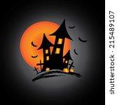 castle halloween | Shutterstock .eps vector #215489107