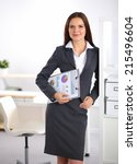 portrait of business woman... | Shutterstock . vector #215496604