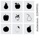 Vector Black Apple And Pear...