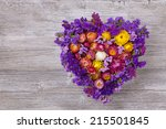 Heart Shaped Flower Wreath On...