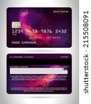 templates of credit cards... | Shutterstock .eps vector #215508091