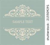 vintage background  antique... | Shutterstock .eps vector #215509291