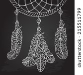 amulet dream catcher. hand...   Shutterstock .eps vector #215511799