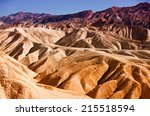 heavily eroded ridges at the... | Shutterstock . vector #215518594