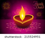 abstract artistic diwali... | Shutterstock .eps vector #215524951