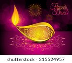 abstract artistic diwali... | Shutterstock .eps vector #215524957
