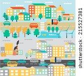 flat design vector illustration. | Shutterstock .eps vector #215527381