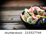 Mix Of Mussels Clams And...