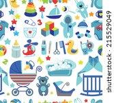 ute newborn seamless...   Shutterstock .eps vector #215529049