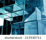 reflective blue abstract... | Shutterstock . vector #215530711