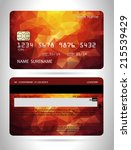 templates of credit cards... | Shutterstock .eps vector #215539429