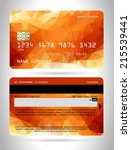 templates of credit cards... | Shutterstock .eps vector #215539441