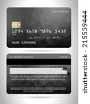 templates of credit cards... | Shutterstock .eps vector #215539444