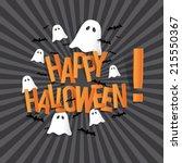 happy halloween card design...   Shutterstock .eps vector #215550367