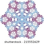 abstract circle ornate floral... | Shutterstock .eps vector #215552629