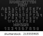 custom handwritten font of... | Shutterstock .eps vector #215555905