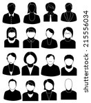 people icons | Shutterstock .eps vector #215556034