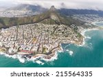 aerial view of cape town  south ... | Shutterstock . vector #215564335