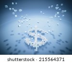 sign of dollar  | Shutterstock . vector #215564371