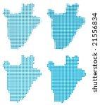 burundi map mosaic set.... | Shutterstock .eps vector #21556834