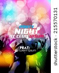 party night party poster... | Shutterstock .eps vector #215570131