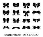set of bows | Shutterstock .eps vector #215570227