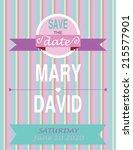 wedding invitation card... | Shutterstock .eps vector #215577901