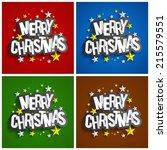 creative merry christmas... | Shutterstock .eps vector #215579551