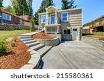 clapboard siding house with...   Shutterstock . vector #215580361