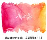 pink orange watercolor vector... | Shutterstock .eps vector #215586445