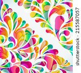 abstract colorful arc drop... | Shutterstock . vector #215587057