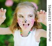 Adorable Little Girl With Kitt...