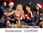 company of attractive people... | Shutterstock . vector #21559345